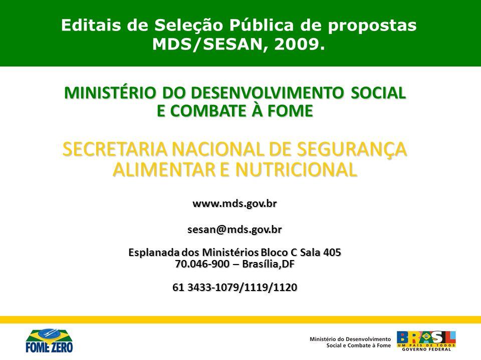 SECRETARIA NACIONAL DE SEGURANÇA ALIMENTAR E NUTRICIONAL