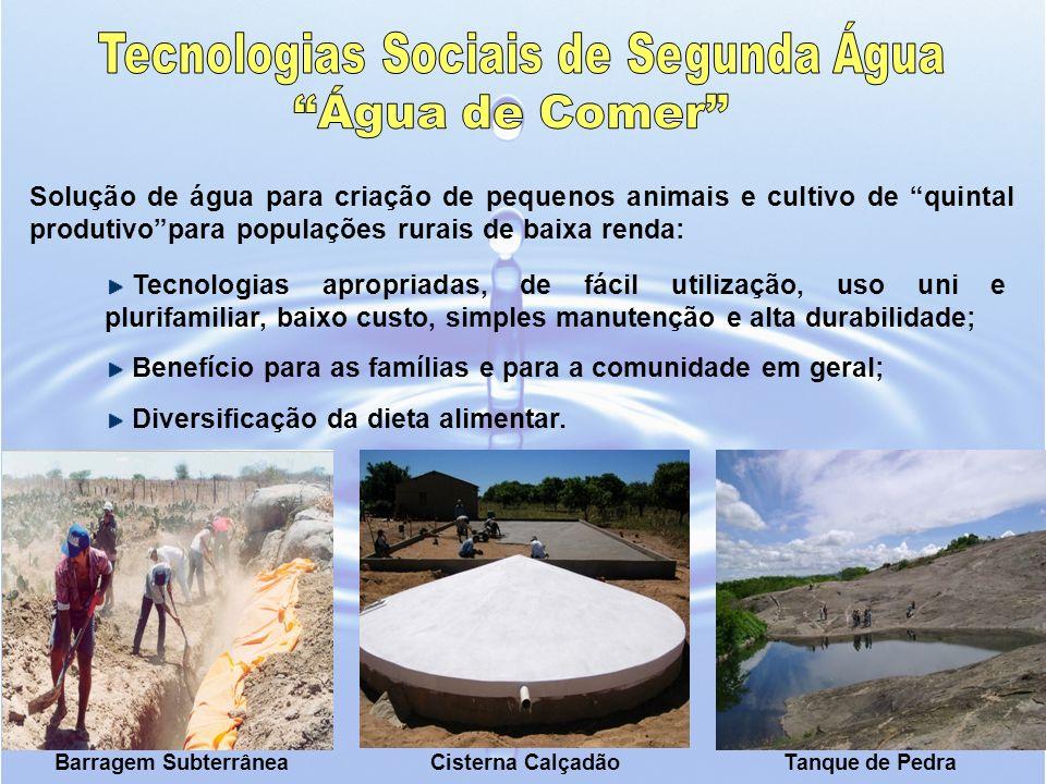 Tecnologias Sociais de Segunda Água
