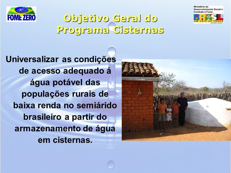 Objetivo Geral do Programa Cisternas