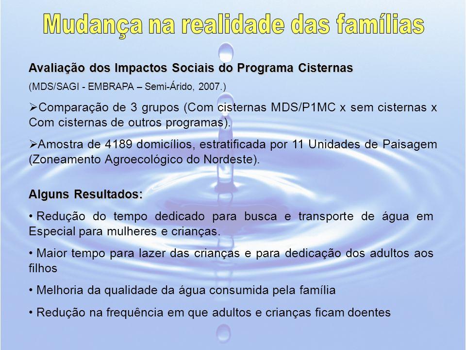 Mudança na realidade das famílias