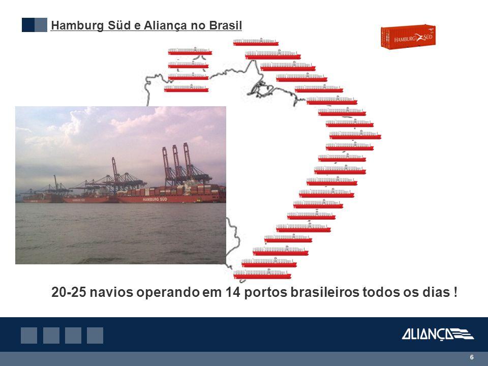 20-25 navios operando em 14 portos brasileiros todos os dias !