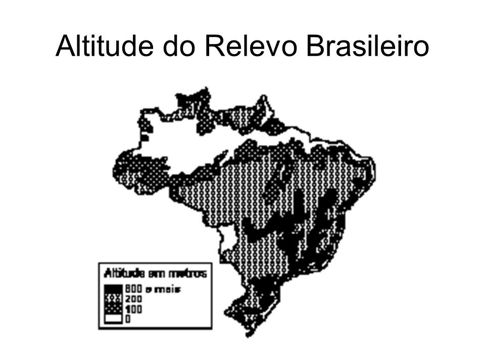 Altitude do Relevo Brasileiro