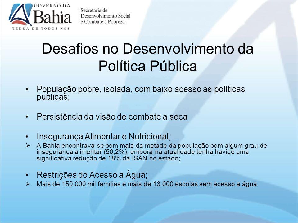 Desafios no Desenvolvimento da Política Pública