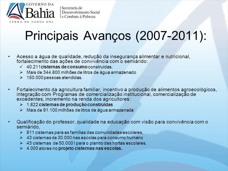 Principais Avanços (2007-2011):