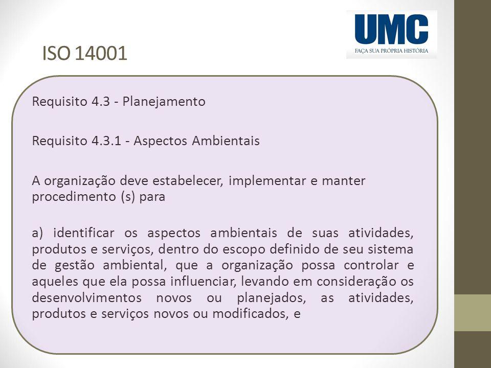 ISO 14001 Requisito 4.3 - Planejamento