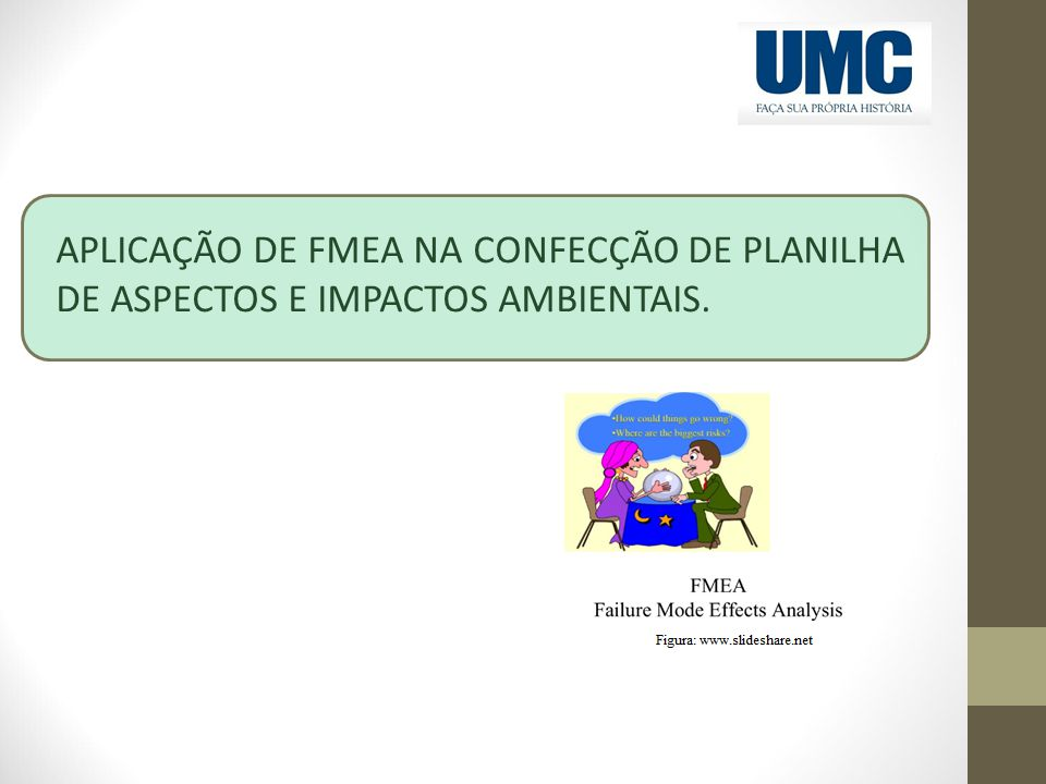 APLICAÇÃO DE FMEA NA CONFECÇÃO DE PLANILHA DE ASPECTOS E IMPACTOS AMBIENTAIS.
