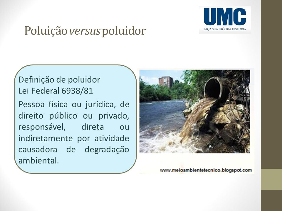 Poluição versus poluidor