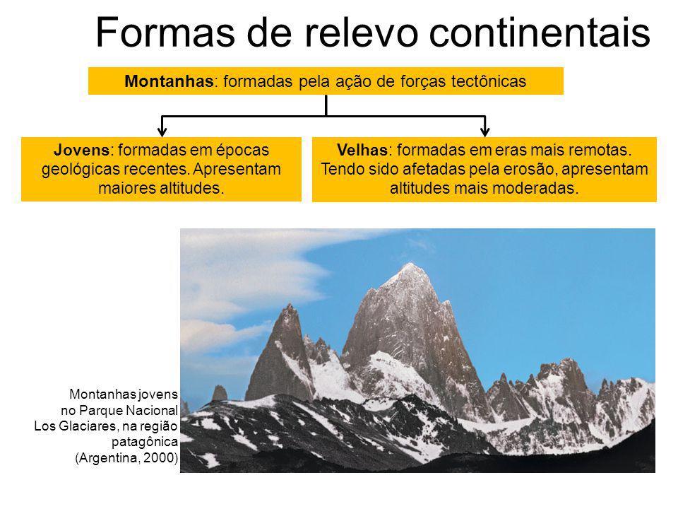 Formas de relevo continentais