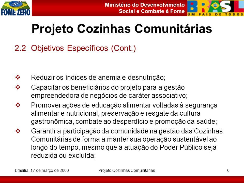 Projeto Cozinhas Comunitárias