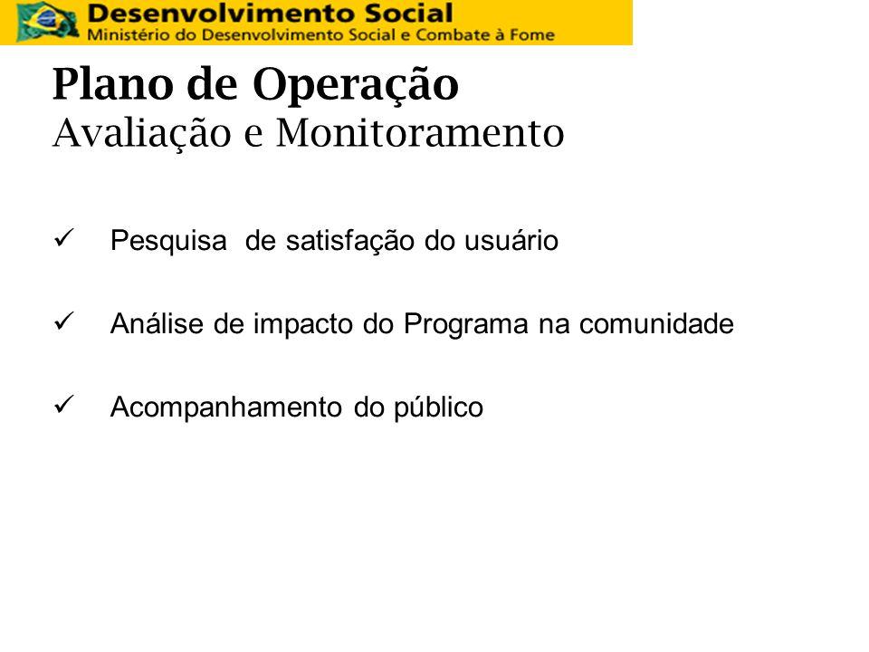 Plano de Operação Avaliação e Monitoramento