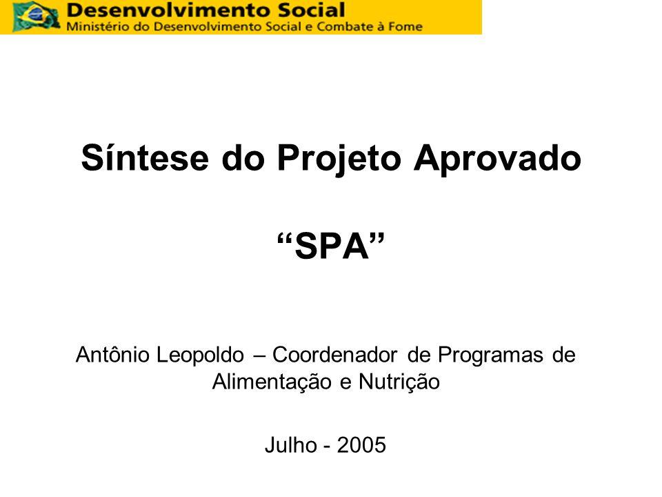 Síntese do Projeto Aprovado SPA