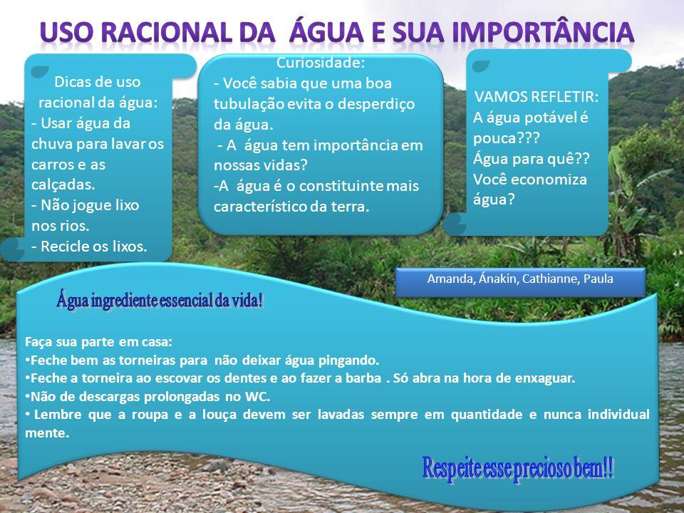 Uso racional da água e sua importância