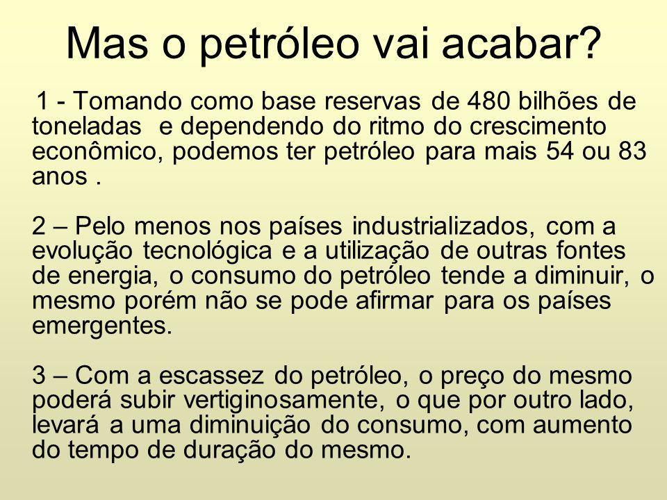 Mas o petróleo vai acabar