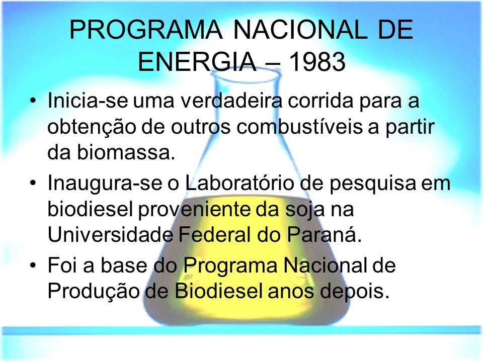 PROGRAMA NACIONAL DE ENERGIA – 1983