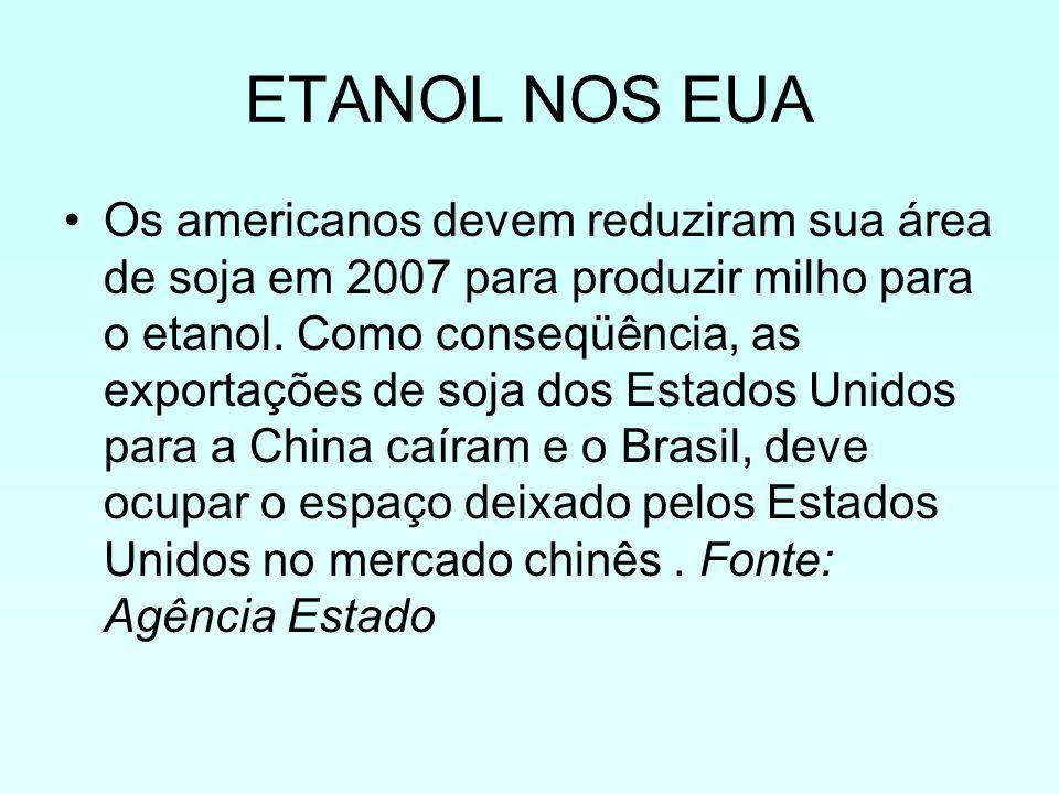 ETANOL NOS EUA