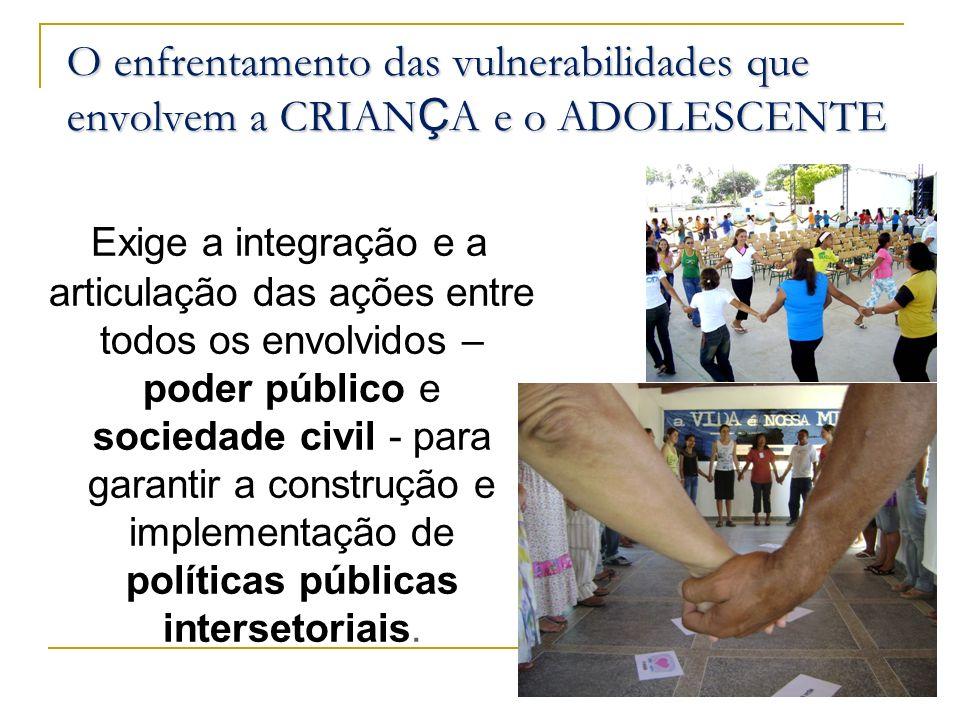 O enfrentamento das vulnerabilidades que envolvem a CRIANÇA e o ADOLESCENTE