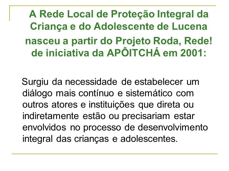 A Rede Local de Proteção Integral da Criança e do Adolescente de Lucena