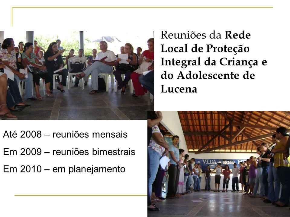 Reuniões da Rede Local de Proteção Integral da Criança e do Adolescente de Lucena