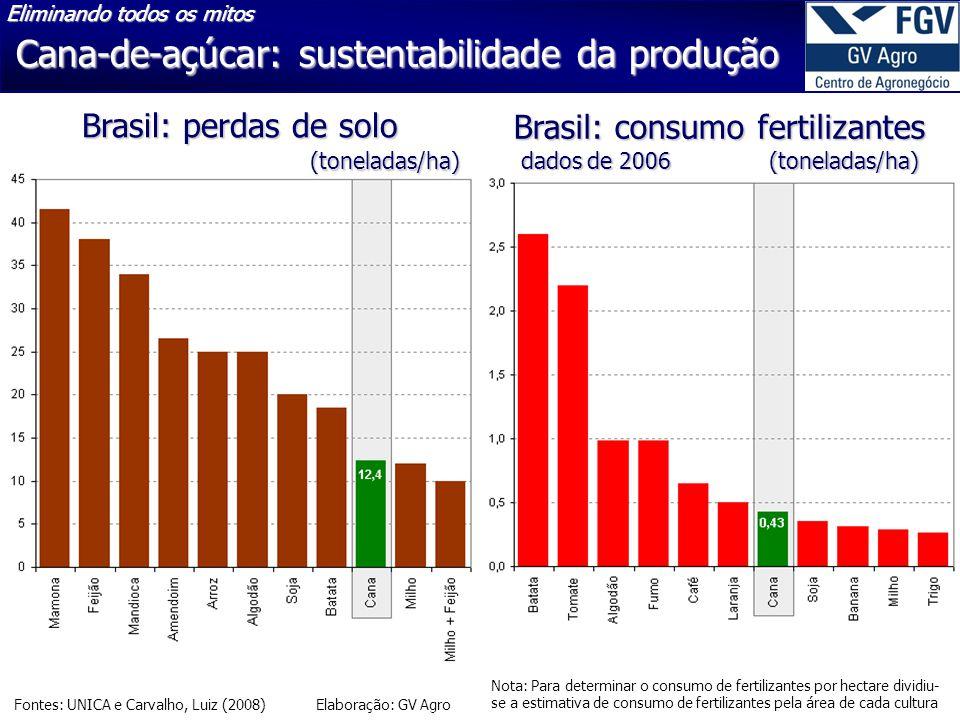 Cana-de-açúcar: sustentabilidade da produção