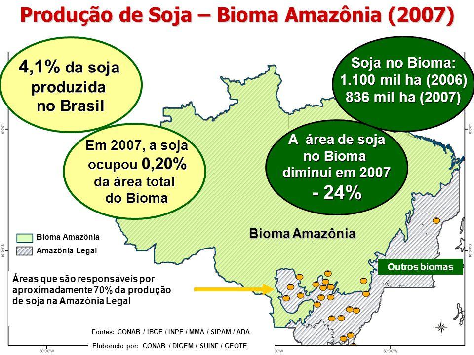 Produção de Soja – Bioma Amazônia (2007)