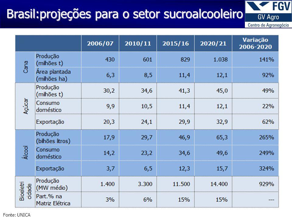 Brasil:projeções para o setor sucroalcooleiro