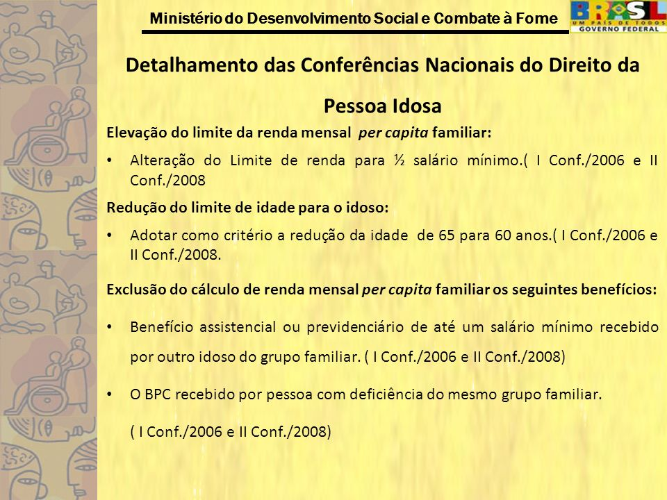 Detalhamento das Conferências Nacionais do Direito da Pessoa Idosa