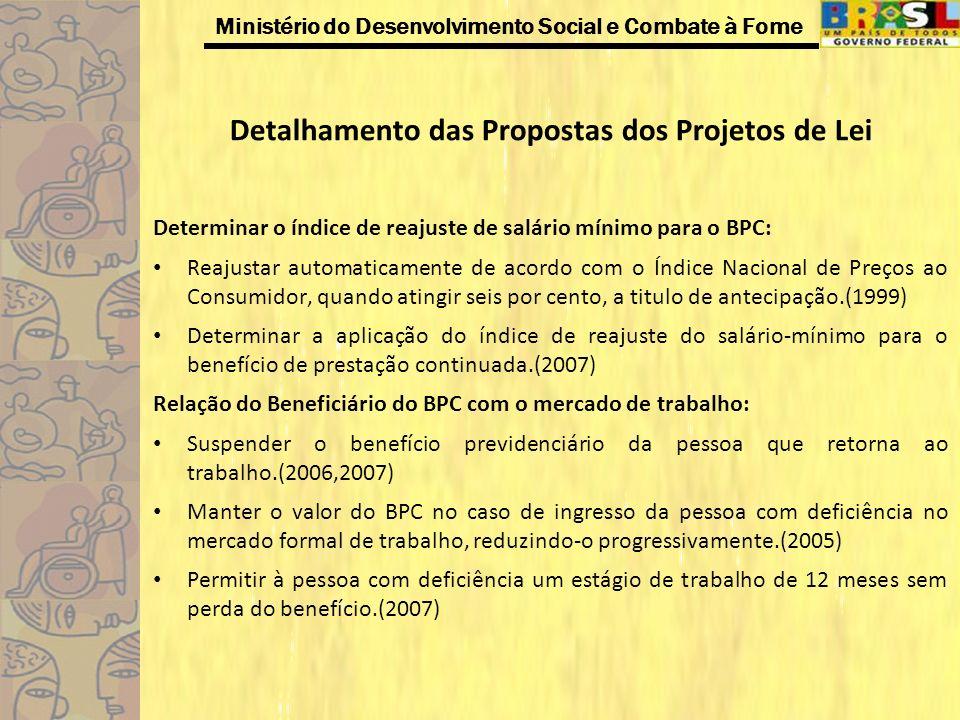 Detalhamento das Propostas dos Projetos de Lei