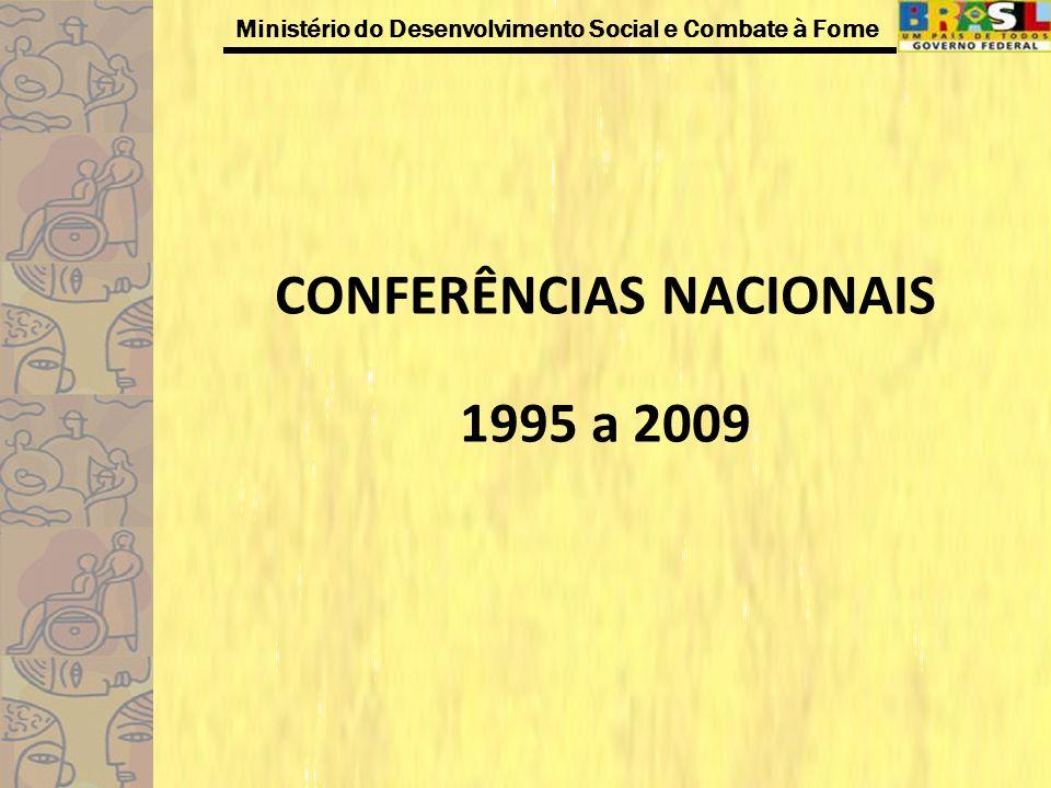 CONFERÊNCIAS NACIONAIS 1995 a 2009