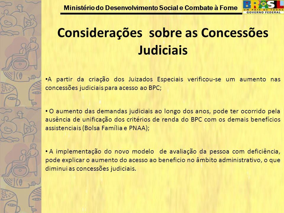 Considerações sobre as Concessões Judiciais