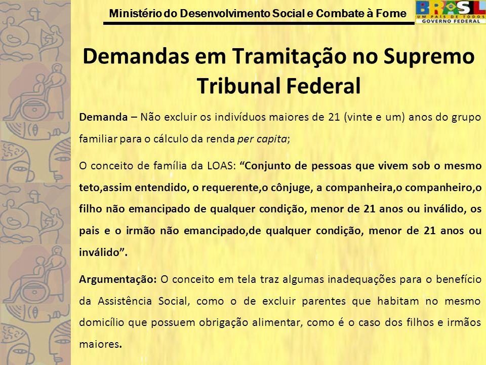 Demandas em Tramitação no Supremo Tribunal Federal