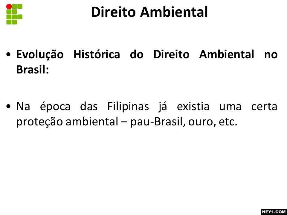 Direito Ambiental Evolução Histórica do Direito Ambiental no Brasil: