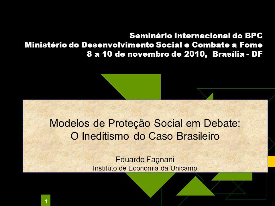 Modelos de Proteção Social em Debate: O Ineditismo do Caso Brasileiro