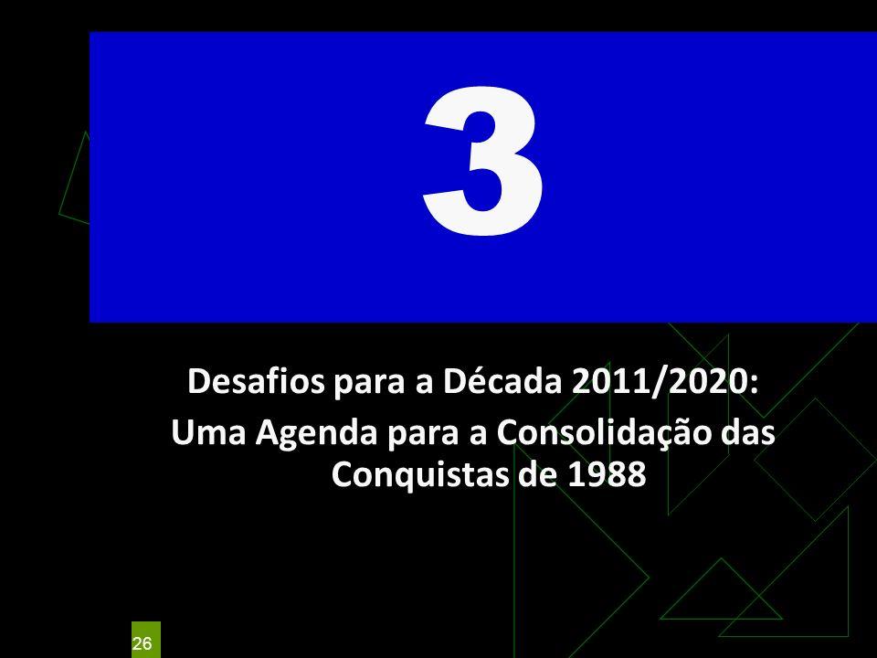 3 Desafios para a Década 2011/2020: