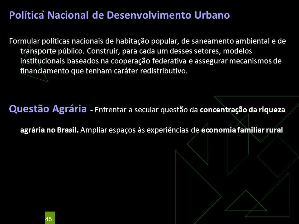 Política Nacional de Desenvolvimento Urbano