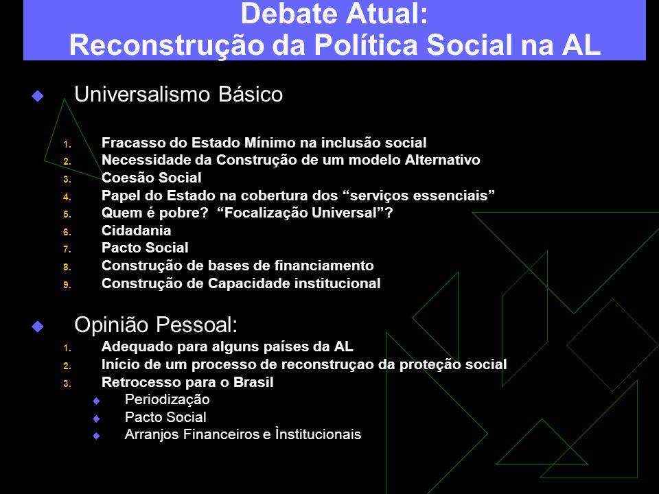 Debate Atual: Reconstrução da Política Social na AL