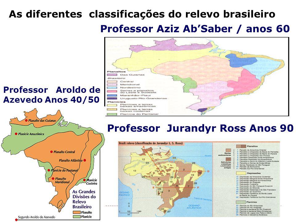 As diferentes classificações do relevo brasileiro