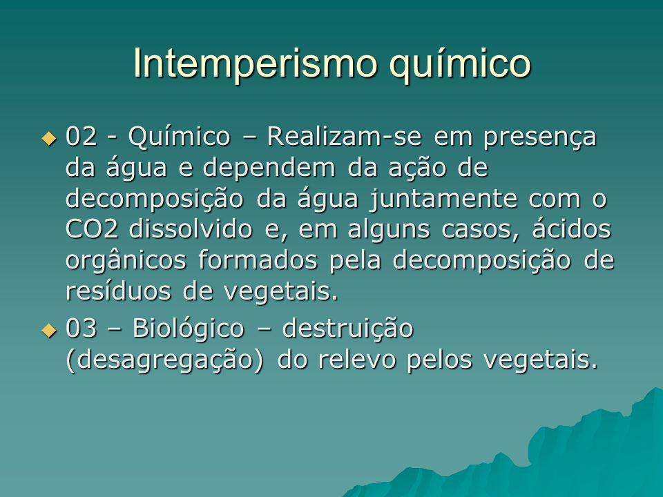 Intemperismo químico