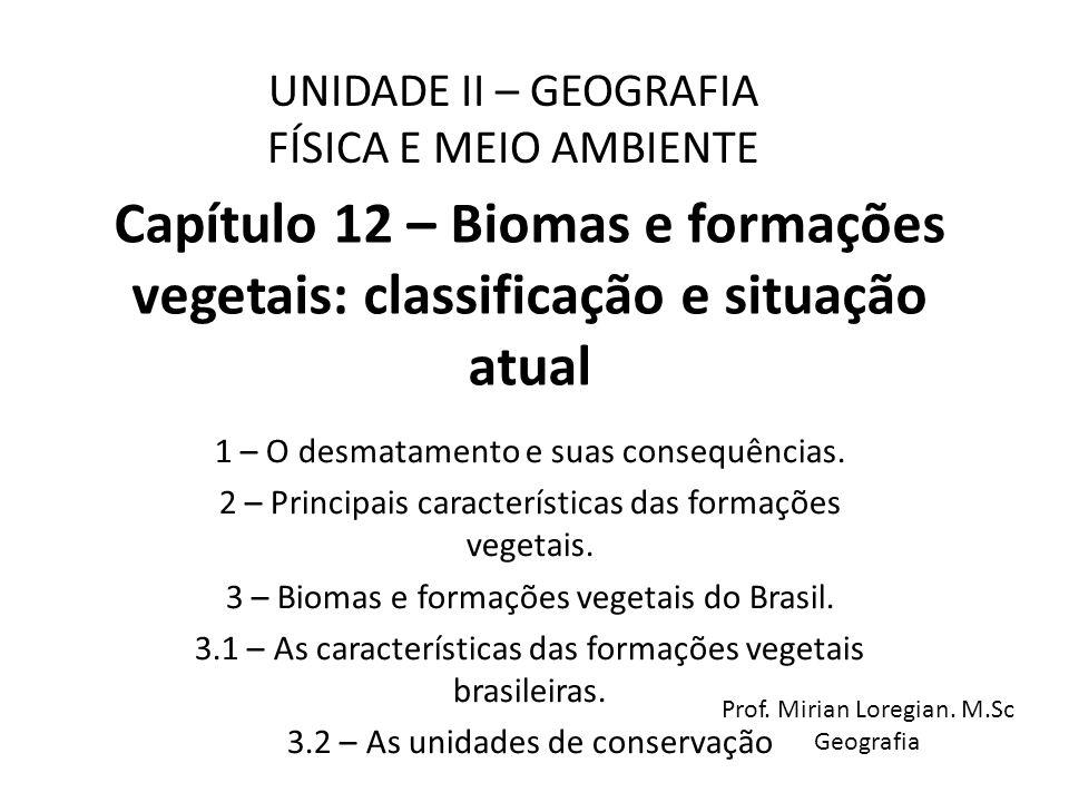 UNIDADE II – GEOGRAFIA FÍSICA E MEIO AMBIENTE