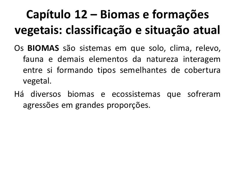 Capítulo 12 – Biomas e formações vegetais: classificação e situação atual