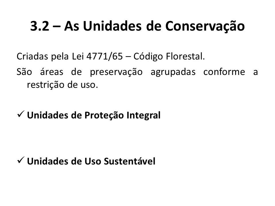 3.2 – As Unidades de Conservação
