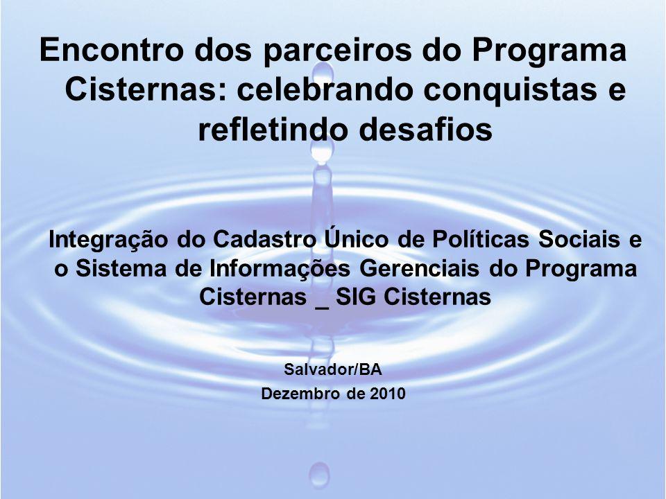 Encontro dos parceiros do Programa Cisternas: celebrando conquistas e refletindo desafios