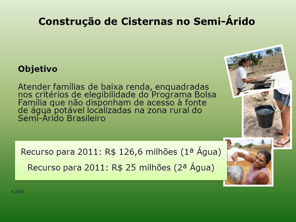 Construção de Cisternas no Semi-Árido