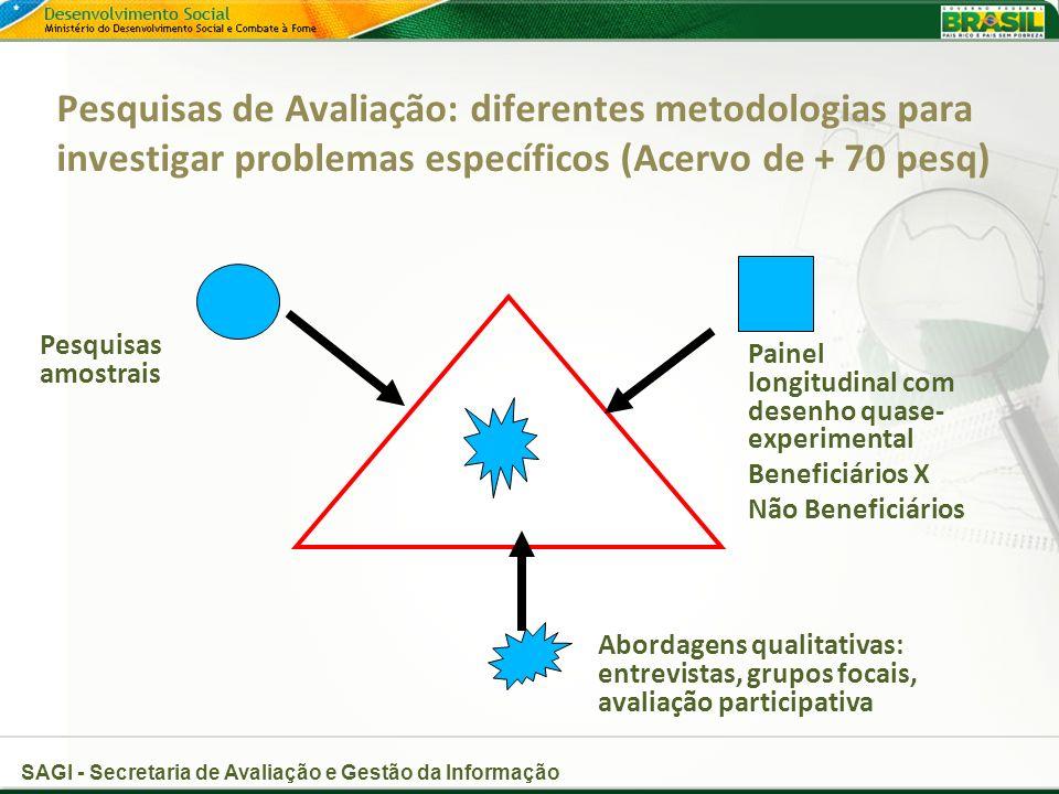 Pesquisas de Avaliação: diferentes metodologias para investigar problemas específicos (Acervo de + 70 pesq)
