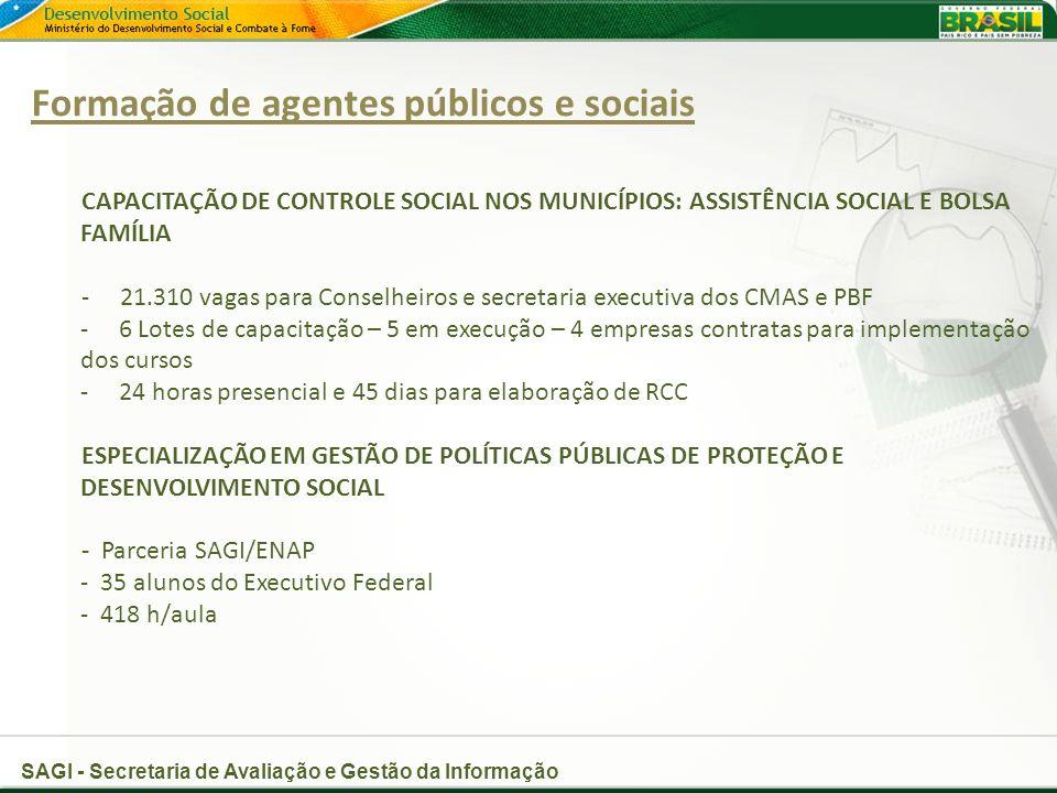 Formação de agentes públicos e sociais