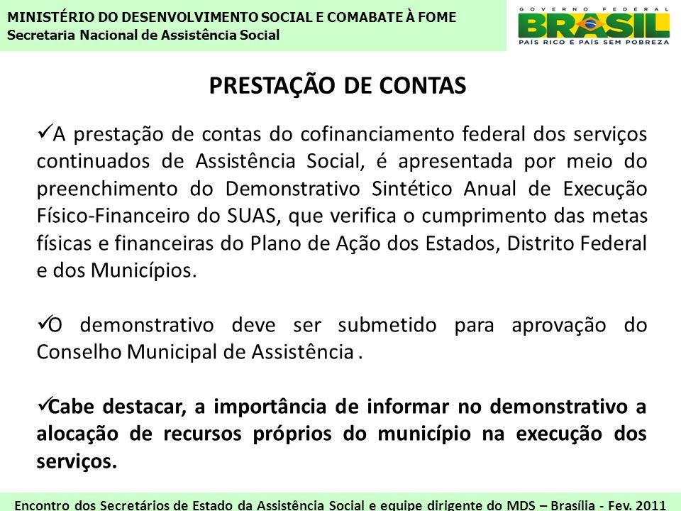 MINISTÉRIO DO DESENVOLVIMENTO SOCIAL E COMABATE À FOME