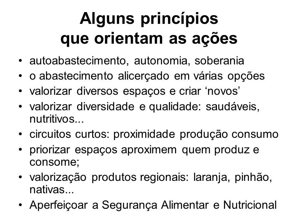 Alguns princípios que orientam as ações