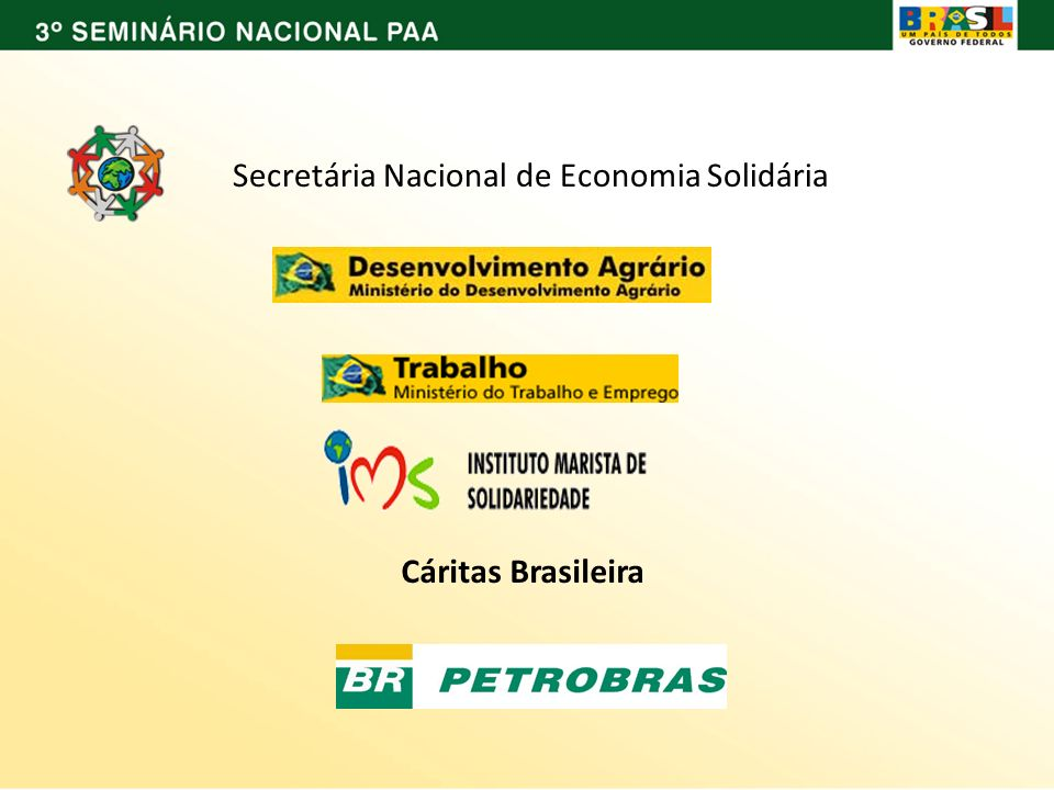 Secretária Nacional de Economia Solidária