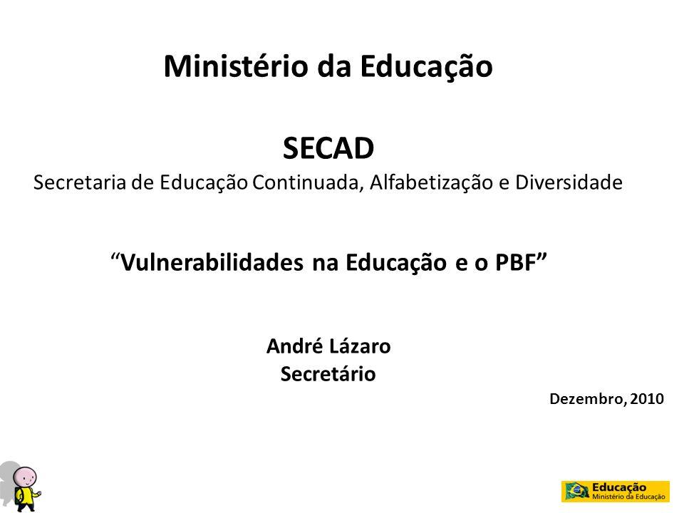 Ministério da Educação André Lázaro Secretário