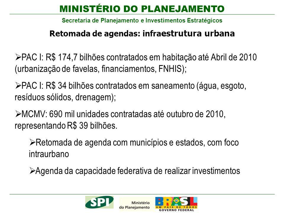 Retomada de agenda com municípios e estados, com foco intraurbano