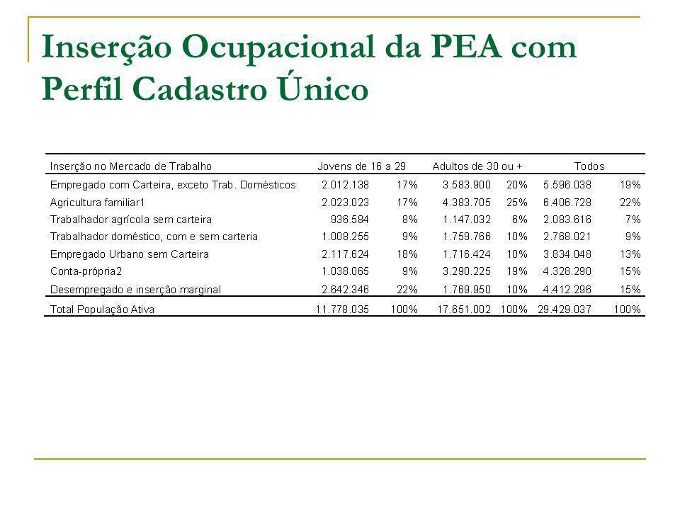Inserção Ocupacional da PEA com Perfil Cadastro Único